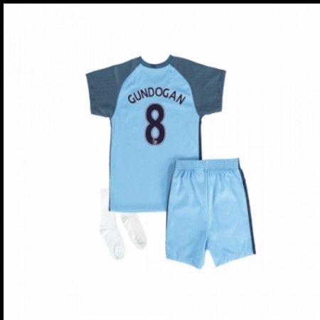 Manchester City Trøje Børn 16-17 Ilkay #Gundogan 8 Hjemmebanetrøje Kort ærmer,199,62KR,shirtshopservice@gmail.com