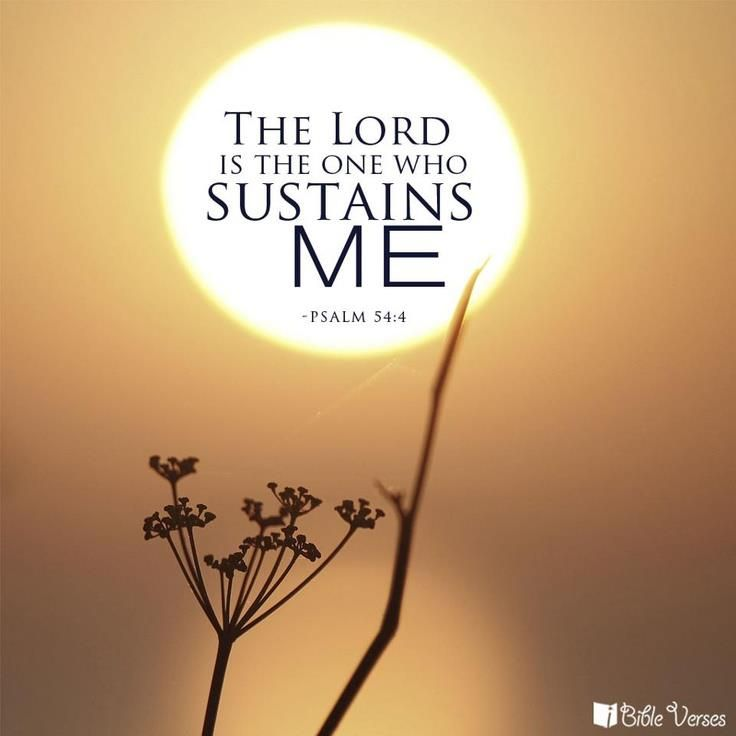 O how so very true this is, I just said this today. Psalm 54:4     The Lord is the only One Who sustains me.