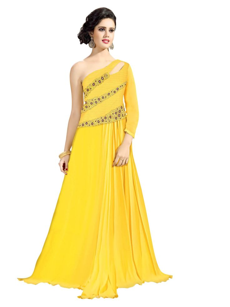 Get 44% off on any selection from our Embroidered Gowns collection. These beautiful and elegant designer gowns are perfect for any formal occasion. #indiandresses #indiangowns #Shingar21