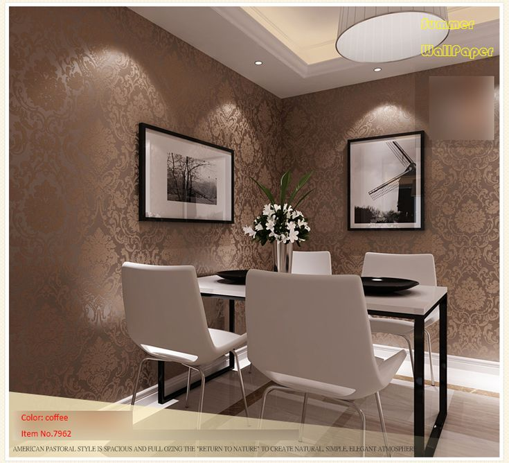 129 melhores imagens sobre salas de jantar no pinterest for Wallpaper sala de estar