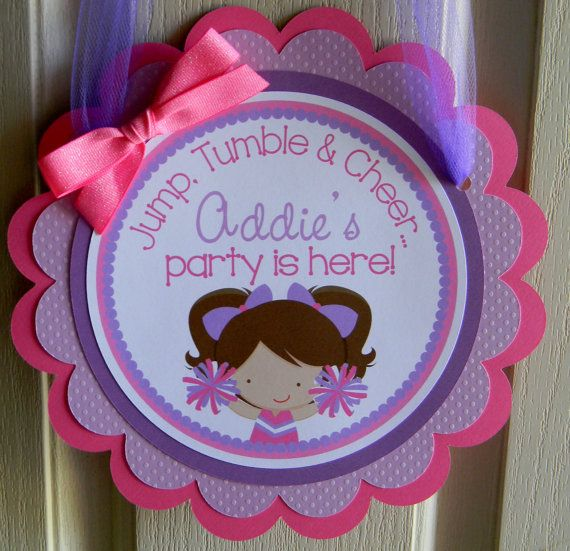 Cheerleading Birthday Party Door Sign by sweetheartpartyshop, $12.00