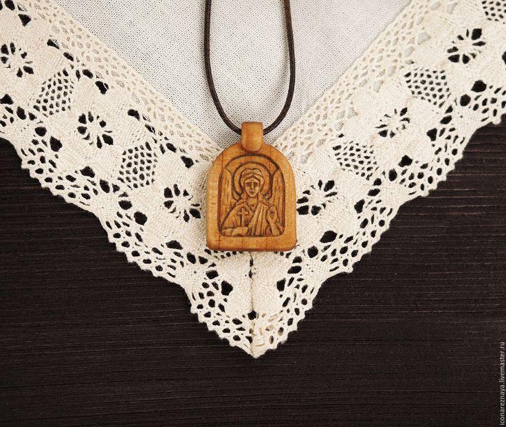 """Купить """"Ангел-Хранитель"""" - нательный образок-икона из кипариса - нательный, православие, православный, крещение, Крестины"""
