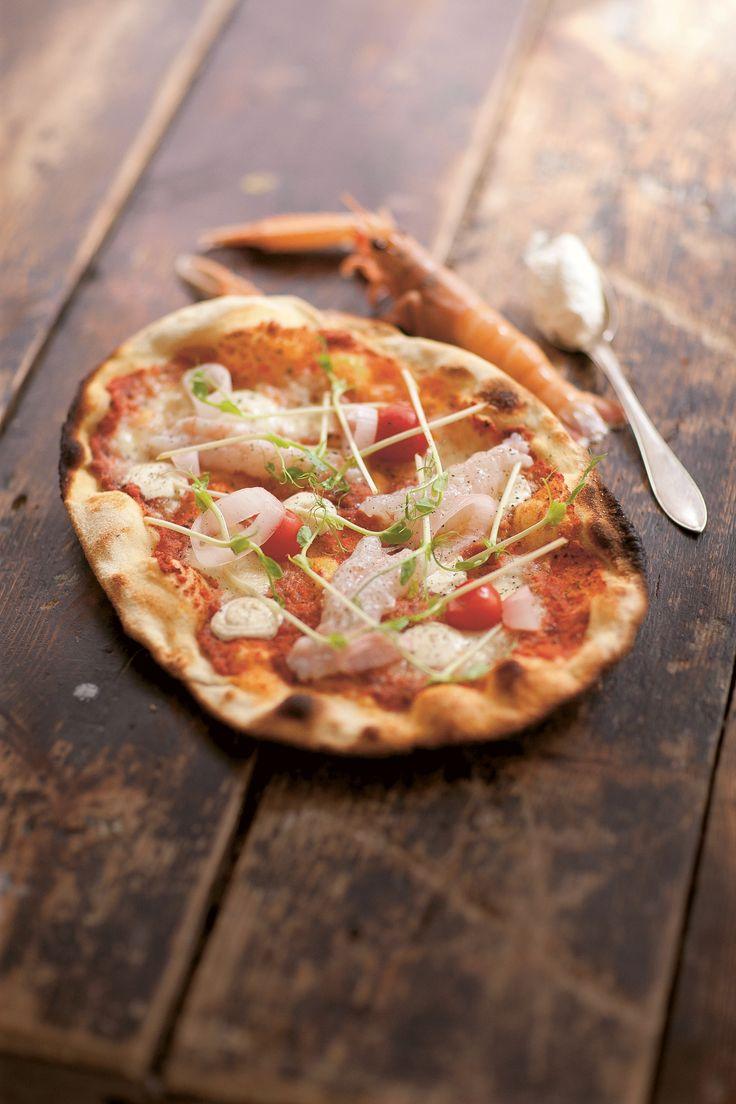 Luksus-Jomfruhummer-Pizza