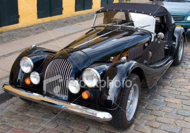 Morgan Roadster classic car Royalty Free Stock Photo