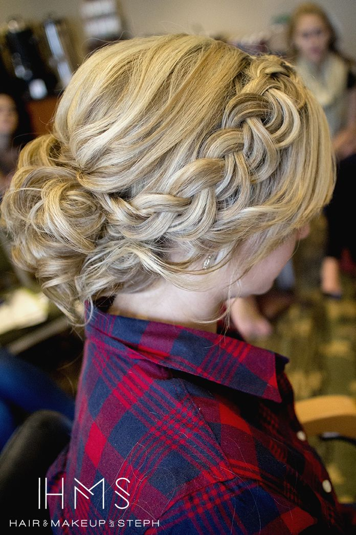 curled braid updo