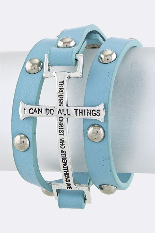 Bracelet Bible Verse - now available in BLUE, BLACK or GRAY!!