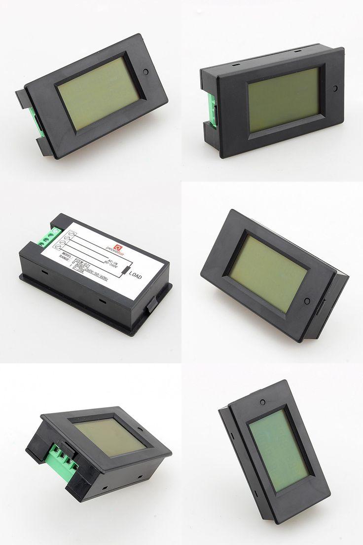 [Visit to Buy] 20A AC 80~260V DC Ammeter Voltmeter Digital Volt Ampere Power Energy Meter Amperimetro LCD Blue Backlight #Advertisement