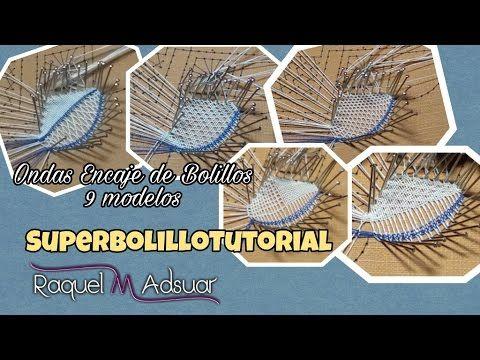 Ondas de Encaje de Bolillos - 9 modelos. Bolillotutorial Paso a Paso Raquel M. Adsuar - YouTube