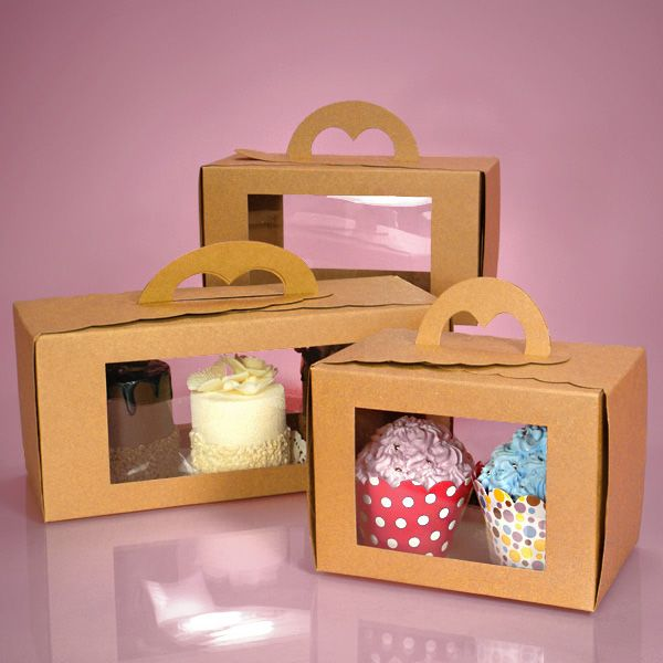 ------------------10---------------- Window Pastry Carry Boxes- the 10.75X4.5…