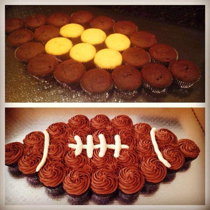 Swirls Cupcakes!: Football Cupcake Cake :)                                                                                                                                                                                 More