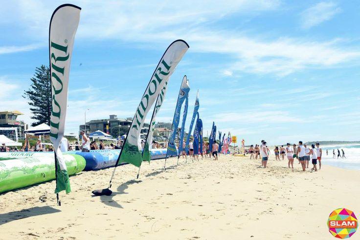 A great day for SLAM on Cronulla Beach, Sydney.