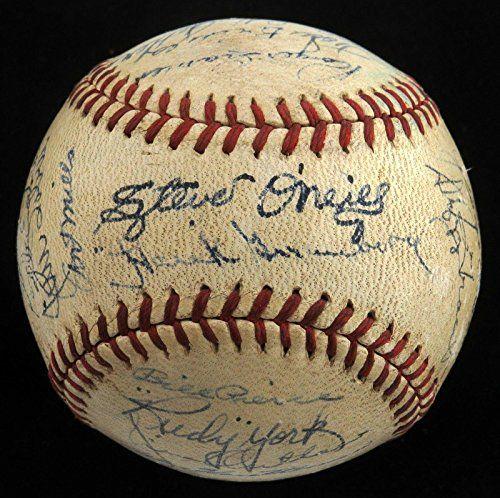 1945-Detroit-Tigers-World-Series-Champs-Team-Signed-Baseball-Hank-Greenberg-JSA-Certified-Autographed-Baseballs