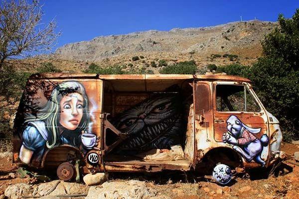 Alice in Wonderland art by WD WIld Drawings in Greece