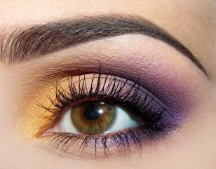 bilder steg-för-steg hur man lägger en färgglad makeup (ej på svenska!)