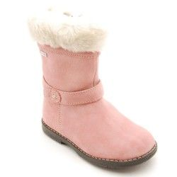 Pink Suede Girls Zip-up Children's Boots