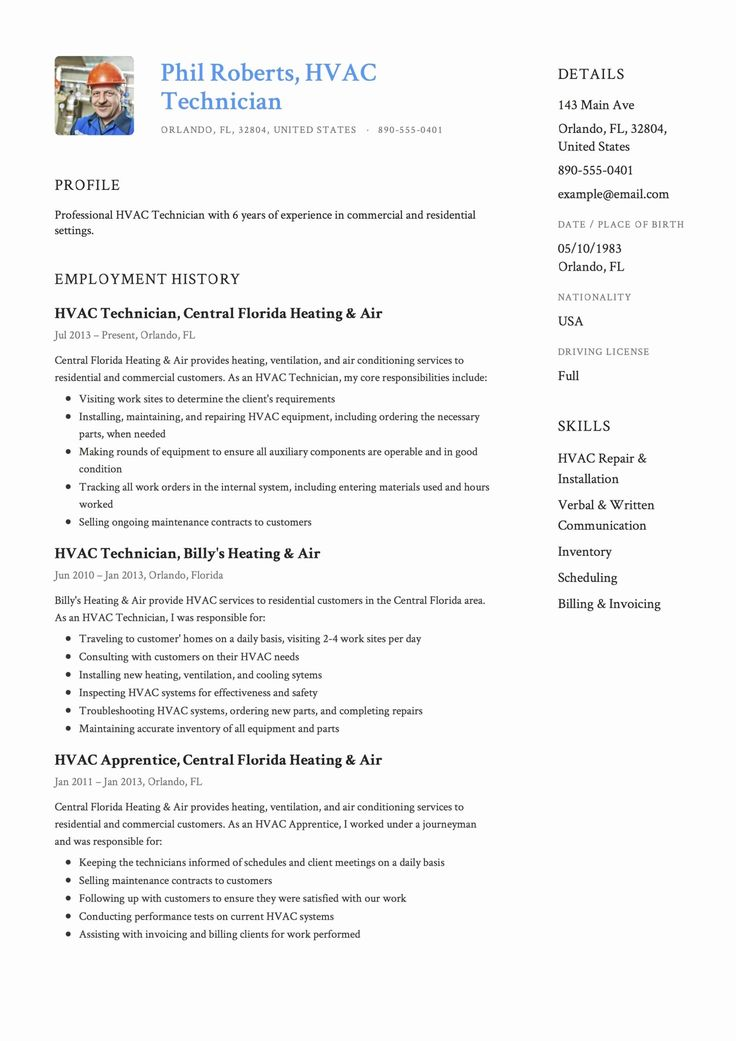 Hvac Technician Job Description Resume Fresh Hvac