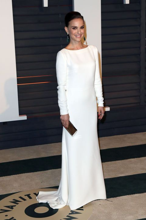 Natalie Portman in Dior. See what all the stars wore to the Academy Awards' biggest after party.