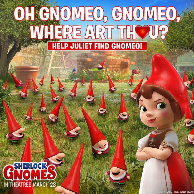 Where art thou, Gnomeo? Help Juliet find Gnomeo in time for #ValentinesDay! #SherlockGnomes