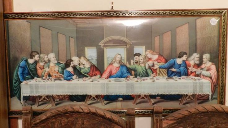 Last Supper Print in Domed Frame in Collectables, Cultural, Religious, Religious | eBay