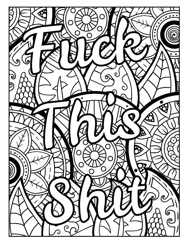 Free Printable Coloring Pages For Adults Only Swear Words Pdf - Cinebrique