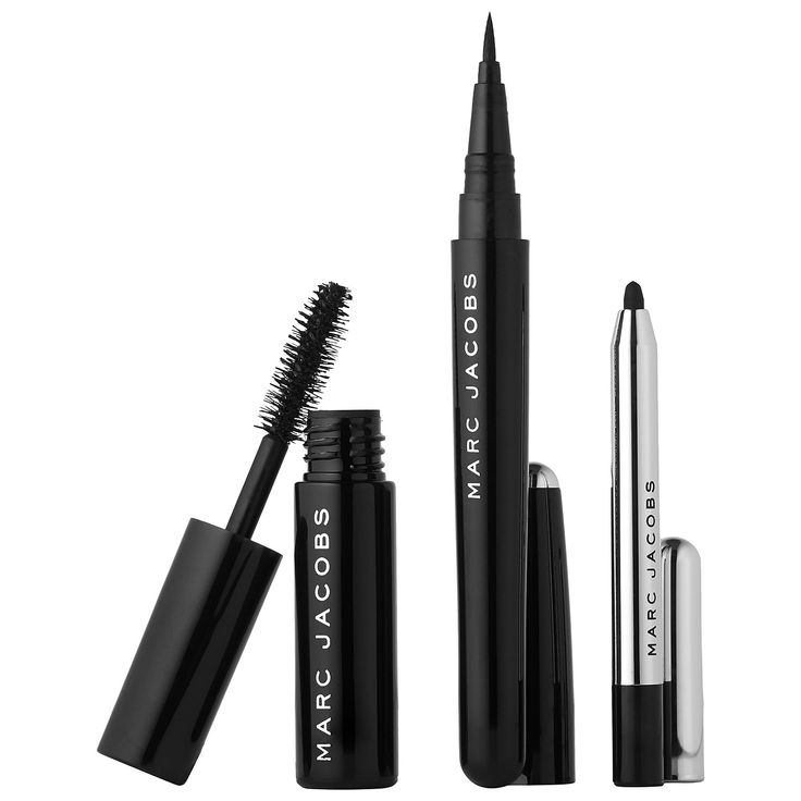 "Marc Jacobs Beauty ""Blacquer is Better"" Eye Defining Essentials #NewatSephora #mascara #eyeliner"