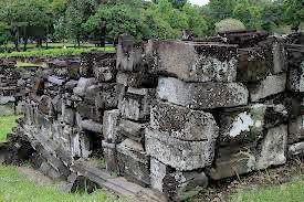history art stone  of the discovery of Prambanan temple  in Yogyakarta