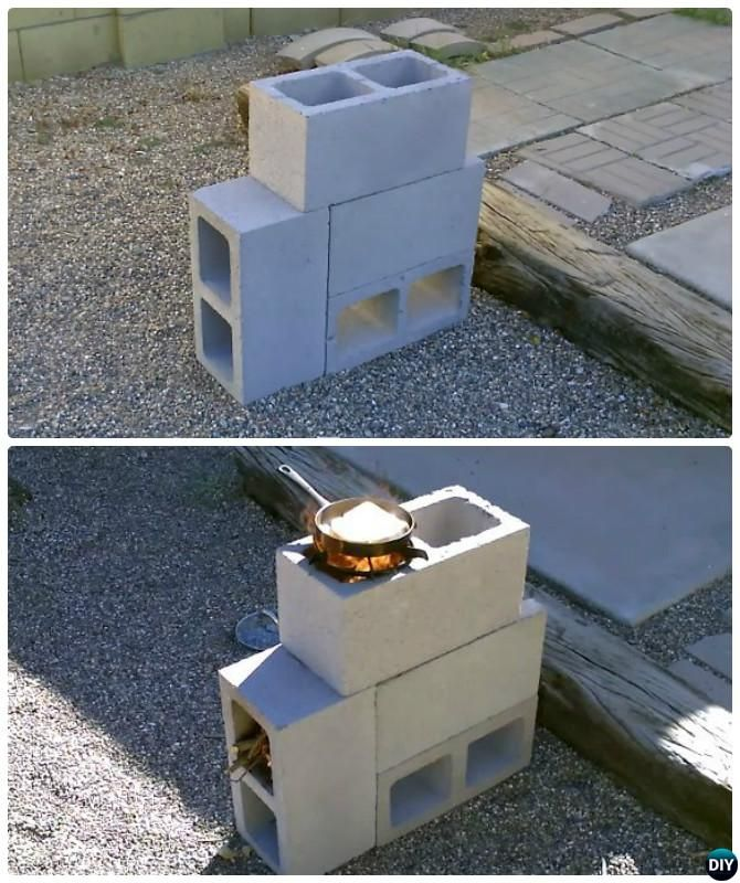 26 best small spaces and decks images on pinterest for 4 block rocket stove