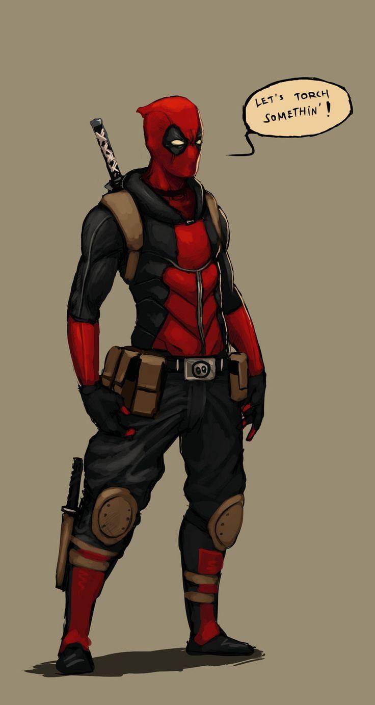 Deadpool redesign sketch by FonteArt.deviantart.com on ... X Men Deadpool Drawings
