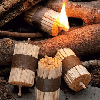"Fire Starter Kit Each box contains 16 bundles of wax impregnated wood sticks 3"" long Great for BBQ and campfires"