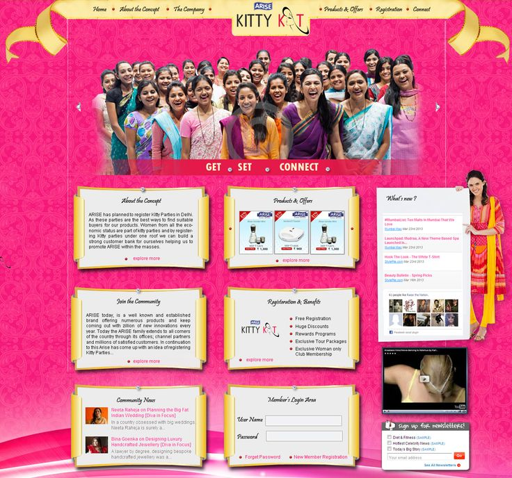 Website Design /UI (User Interface) for arisekittykats.com designed by Rosemary Interactive. Rosemary Creative Studios produces an unique and rich creative experience online always.