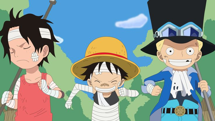 Ace, Luffy, Sabo. One Piece. Illustrator.