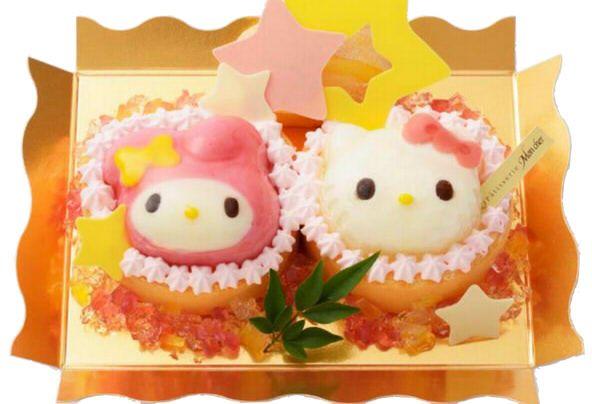 七夕限定キティ&マイメロのケーキ