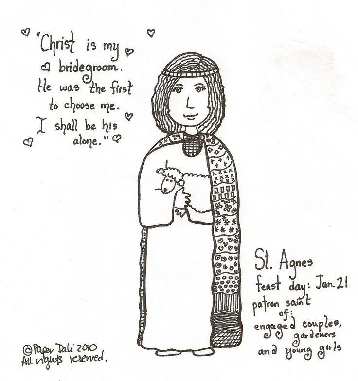 Fine Saint Agnes Coloring Page Images - Coloring Paper ...