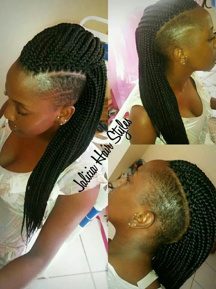 box braid with tapered