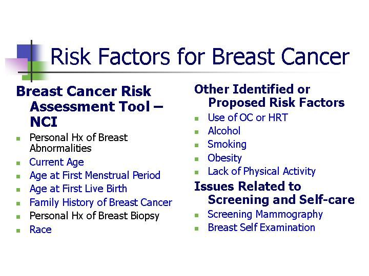 What are the known causes of breast cancer