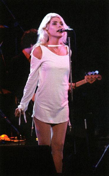 Debbie Harry of Blondie performs on stage on the Parralel Lines tour at De Doelen Rotterdam Netherlands 7th September 1978