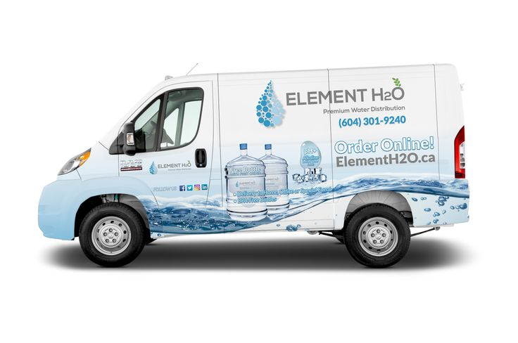 Some time you need to just go with the flow. Water Delivery Service Van Graphic wrap. #graphicwrap #vanwraps #gowiththeflow #mobilemarketing