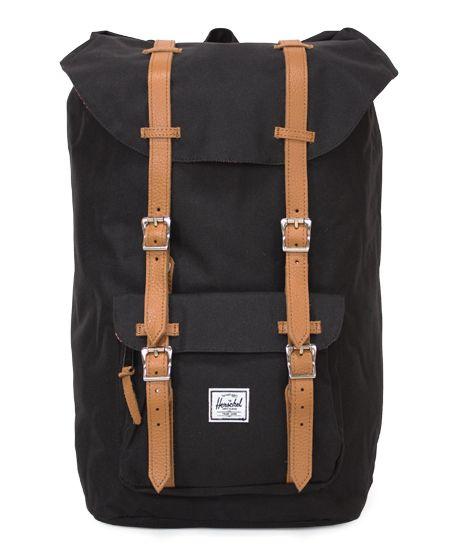 Herschel Supply (ハーシェル・サプライ) - Leather レザー - Little America (リトルアメリカ) Backpack バックパック Black (ブラック)