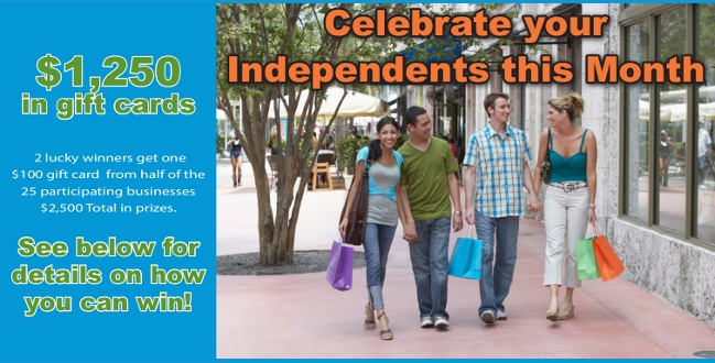 Come celebrate with us this July by supporting your local Independents!!