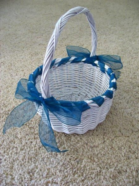 How To Make A Basket For Flower Girl : Best images about how to make a veil on
