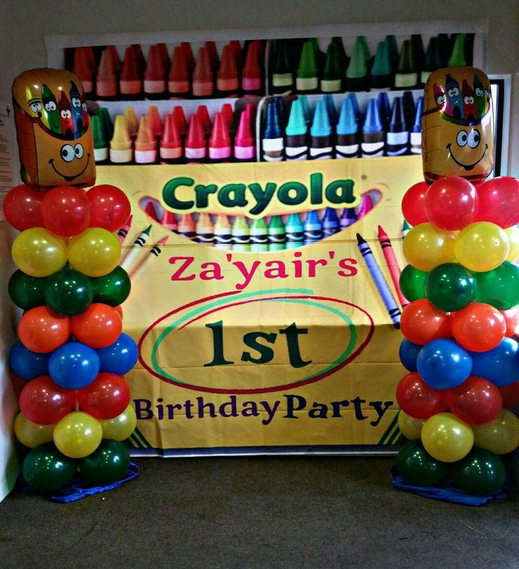 Crayola Party Backdrop & columns