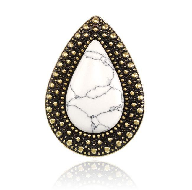 BOHEMIAN BARDOT RING - WHITE