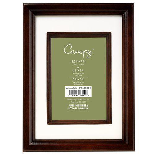 $6.96 Canopy Studio Picture Frame, Mahogany @ walmart  5x7