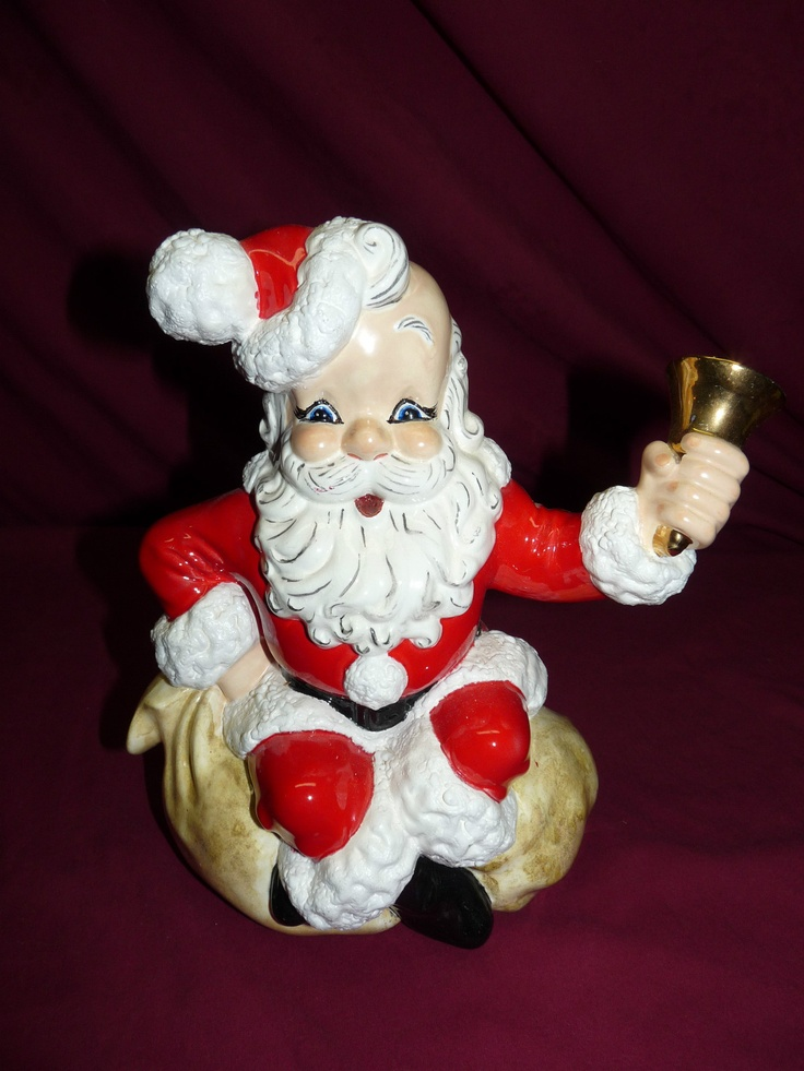 Vintage 1960 1970 Atlantic Mold Santa Ceramic Display