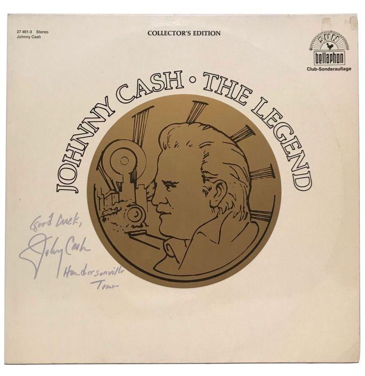 Johnny Cash - The Legend Album Signed By Johnny Cash