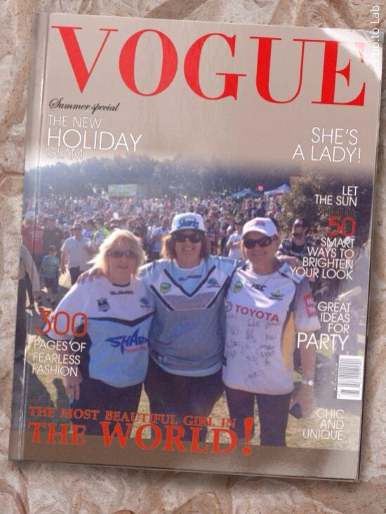 On the vogue cover (haha we wish)