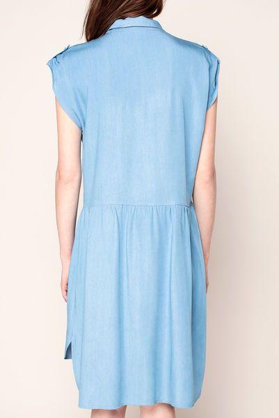 Vestido camisa - pop corn - Azul / Marina de guerra 3