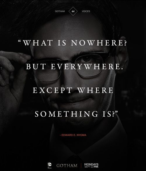 What's nowhere, but everywhere, except where something is?