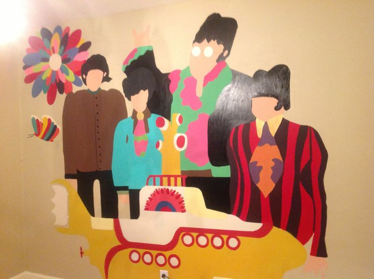 17 images about yellow submarine on pinterest chuck for Beatles wall mural