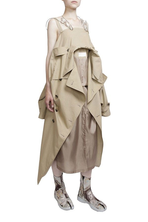 MAISON MARGIELA TRENCH DRESS  available at www.zambesistore.com